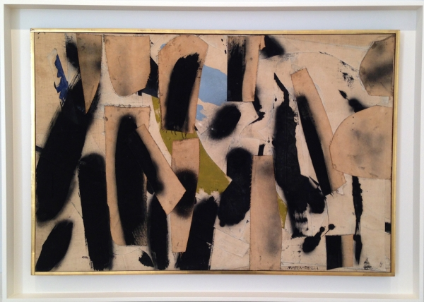 Conrad Marca-Relli, Untitled, 1959, oil and canvas collage, 22 x 33 in.