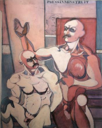 John Graham, Poussin m'instruit, 1944, oil on canvas, 60 x 48 in.