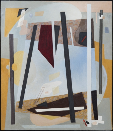 "Alice Trumbull Mason, ""Bearings in Transition,"" 1947, oil on masonite, 26 1/2 x 23 in."