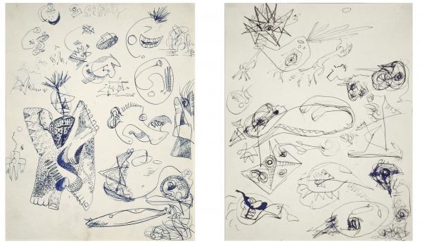 Jackson Pollock drawing CR578