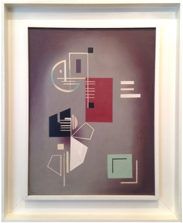 Jean Xceron, Composition #212, 1941, oil on canvas, 21 x 16 in.