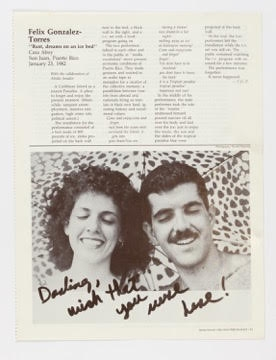 Formerly titled: Felix Gonzalez-Torres, 'Rust, dreams on an ice bed', Casa Aboy, San Juan Puerto Rico, January 23, 1982 #HIDDEN