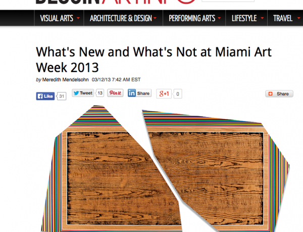 What's New and What's Not in Miami Art Week 2013