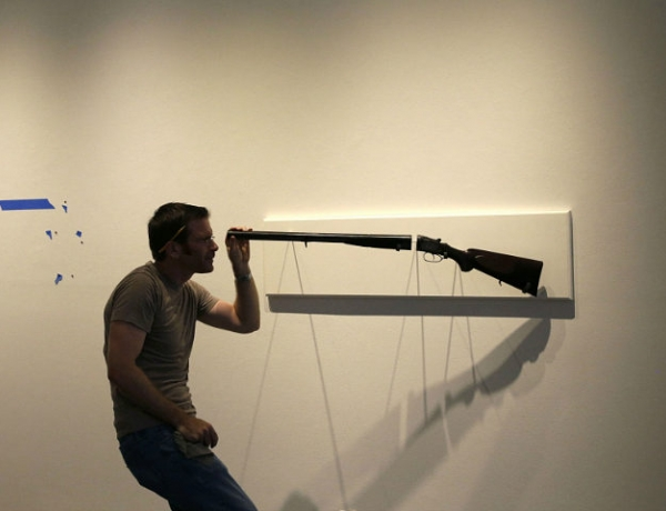 Tim Kaine Sponsors Gun Control Art Exhibit in DC