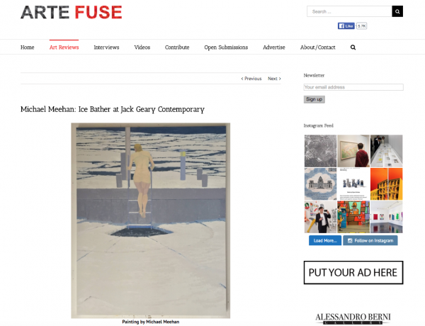 ARTE FUSE: Michael Meehan: Ice Bather
