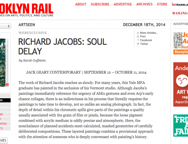 Brooklyn Rail: RICHARD JACOBS: SOUL DELAY