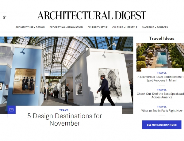 HGG and Frederic Brenner featured in Architectural Digest