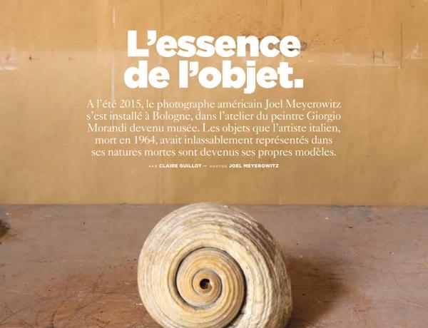 Morandi's Objects featured in Le Monde Magazine M