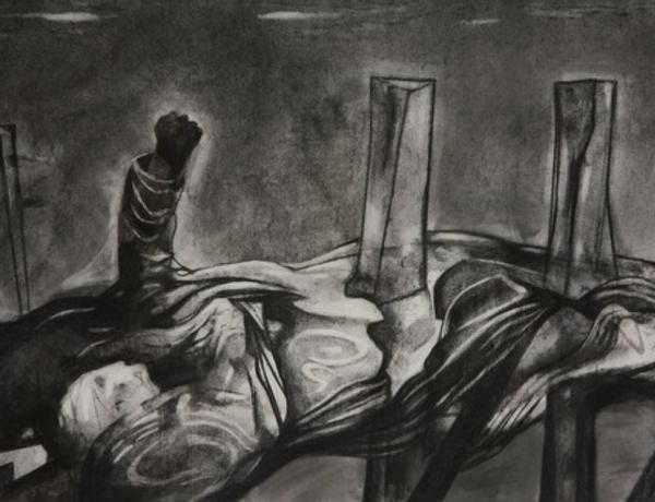 Håkon Bleken i sort, grått og hvitt