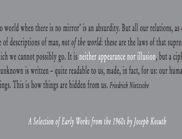 Joseph Kosuth's Early Work