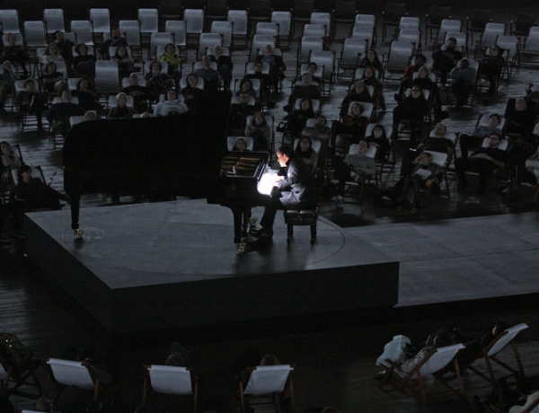 Review: In 'Goldberg,' Marina Abramovic and Igor Levit Blend Classical Music and Performance Art