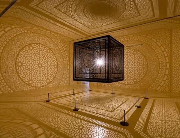 Anila Quayyum Agha on Display at Peabody Essex Museum, Salem MA