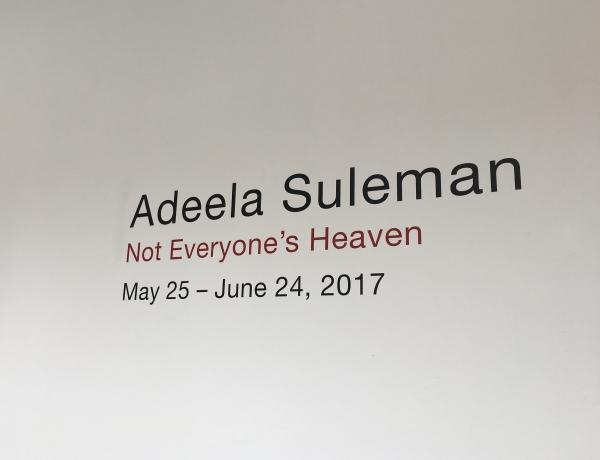 Adeela Suleman at Pinakothek der Moderne, Munich