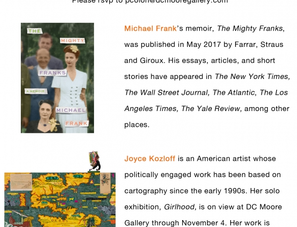 The Voyage Out: Michael Frank in Conversation with Joyce Kozloff