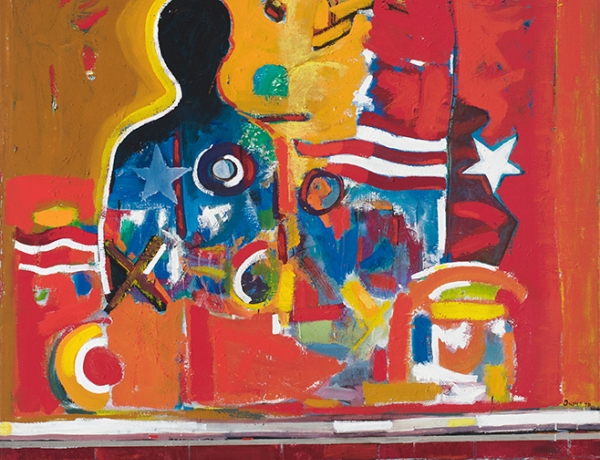 "Romare Bearden and David Driskell in ""Soul of a Nation: Art in the Age of Black Power"""