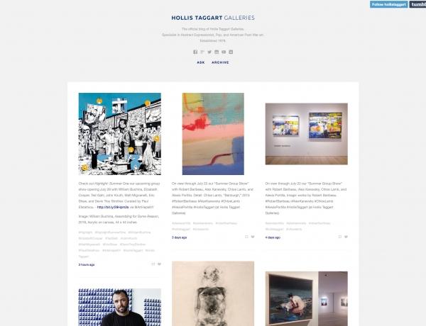 Follow Hollis Taggart Galleries on Tumblr
