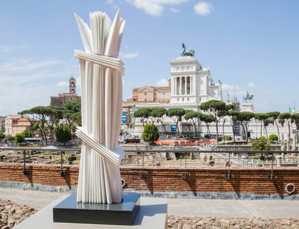 Contemporary Marble Sculptures Are Sprouting Near the Ruins in Rome