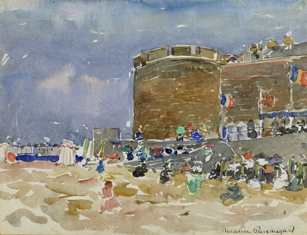 Prendergast Old Town, St. Malo watercolor