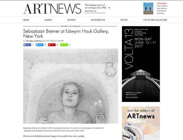 """Sebastiaan Bremer: Ave Maria"" in ARTNEWS"