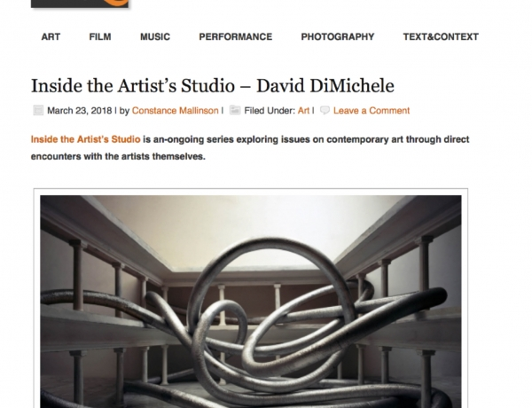 Times Quotidian - Inside the Artist's Studio: David DiMichele