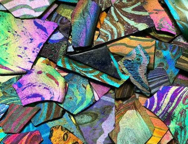 Tiffany's Iridescence: Glass in Rainbow Hues
