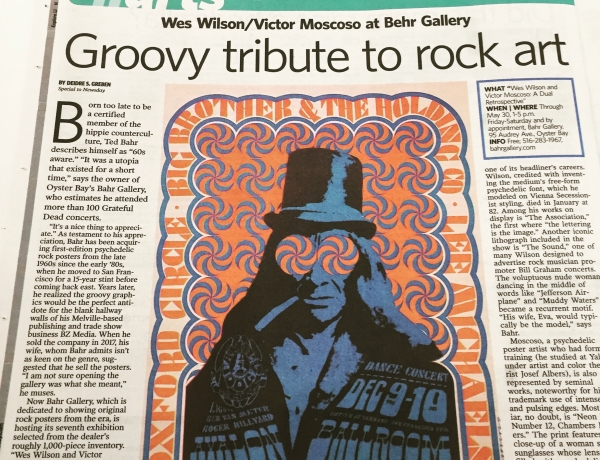 Newsday Covers Wilson/Moscoso Retrospective