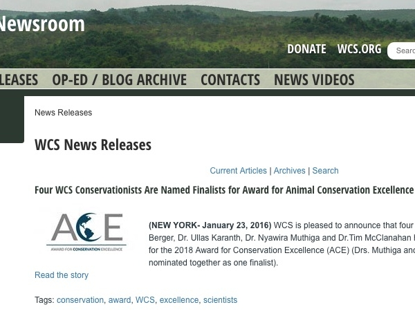 WCS Newsroom-News Releases