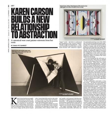Karen Carson Builds A New Relationship To Abstraction