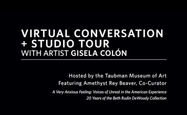 Virtual Conversation + Studio Tour with Artist Gisela Colón
