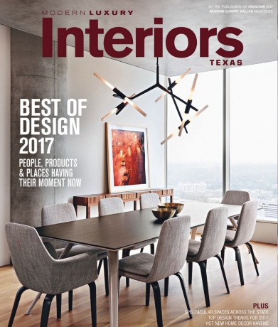 Modern Luxury Interiors Texas, Winter/Spring 2017