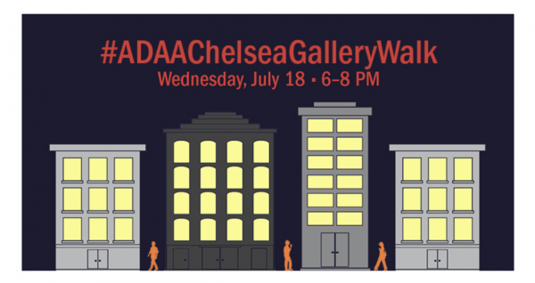 ADAA Chelsea Gallery Walk on Wednesday, July 18, 6-8 pm.