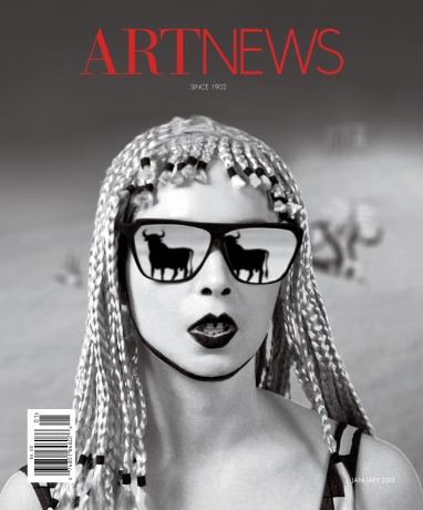 Mary Reid Kelley on the January 2015 cover of ARTnews