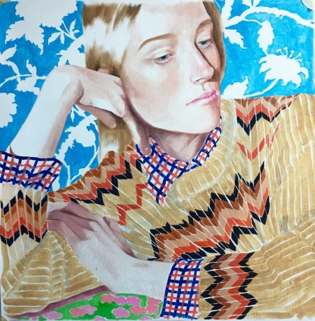 Jocelyn Hobbie, Steve Gianakos, and John Wesley at Rental Gallery