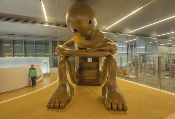 Whimsical Bronze Sculptures Turn Airport into Interactive Playground