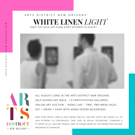 White Linen Night 2020 Reimagined by the Arts District New Orleans in Light of Covid-19 Restrictions
