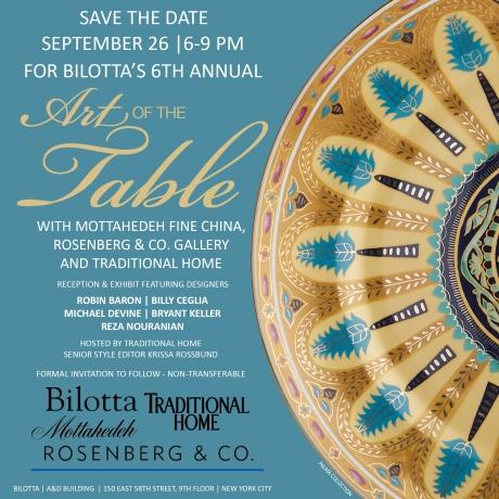 "Bilotta's 6th Annual ""Art of the Table"""