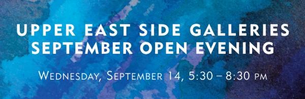 Upper East Side Galleries Open Evening
