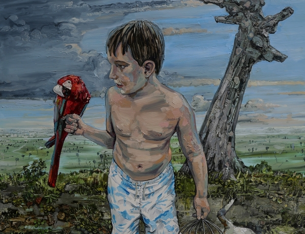 Boy with Parrot 2018