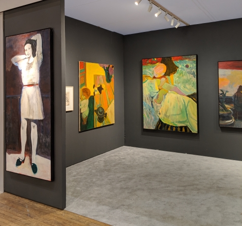 Installation view, Elmer Bischoff, ADAA The Art Show, George Adams Gallery, New York, 2019.