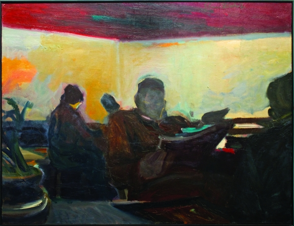 Elmer Bischoff, the Waiting Room 1954
