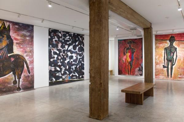Installation view, 'Luis Cruz Azaceta: 1984-1989,' George Adams Gallery, New York, 2018.