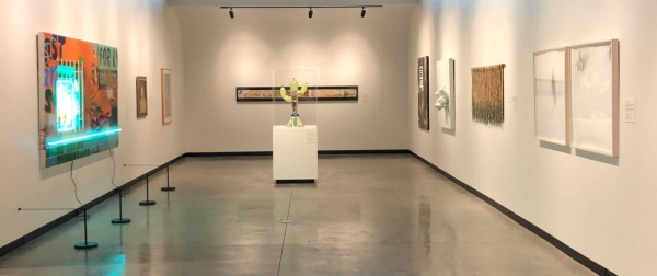 Installation view of Contemporary Latin American art in the Kasser Family Wing, Tucson Museum of Art, Arizona.