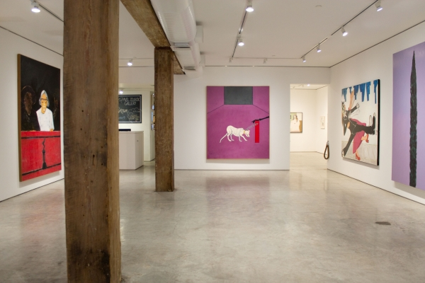 Installation view, Joan Brown, George Adams Gallery, New York, 2017.