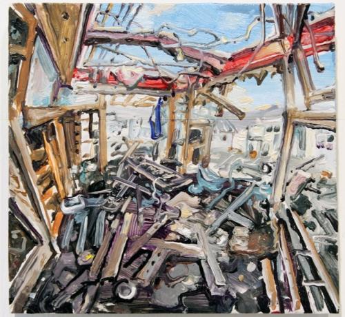 Amer Kobaslija, Ruined House Near Kesennuma Port II, 2013.
