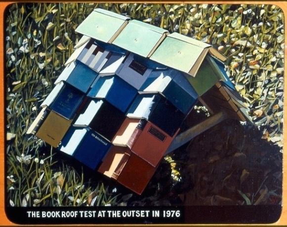 Tony May, Book Roof Test, 2001.