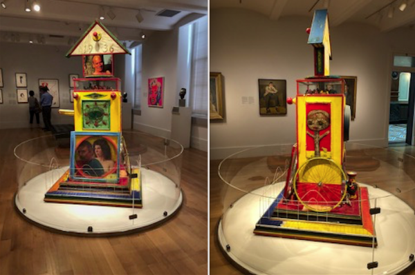 Installation view of Tomb II, Gregory Gillespie, 1998-99, mixed-media on wood construction, Collection of Peggy Gillespie.