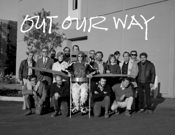 'Out Our Way' Publicity image, courtesy the Manetti Shrem Museum of Art, Davis, CA.