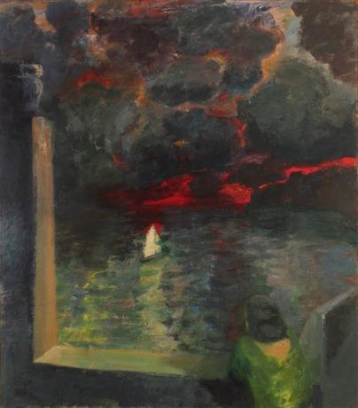 Elmer Bischoff, 'Figure at Window with Boat' 1964