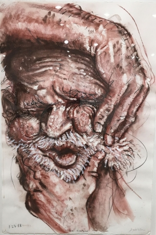 Robert Arneson, 'Head Wedge' 1988.