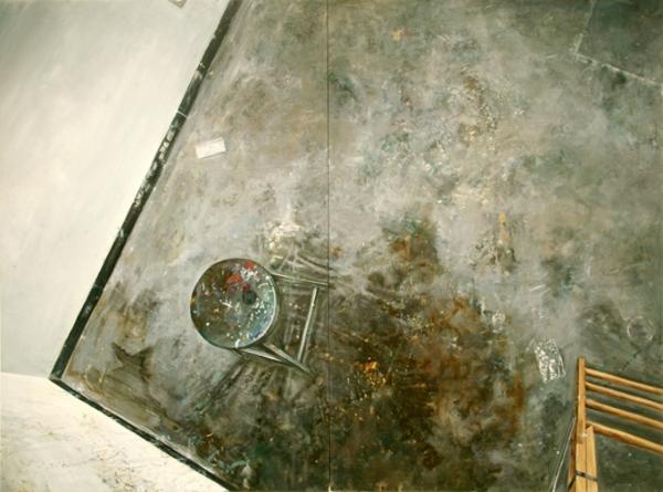 Amer Kobaslija, Studio Painting with Chair and Ladder, 2005.